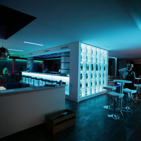 Dance club interior design